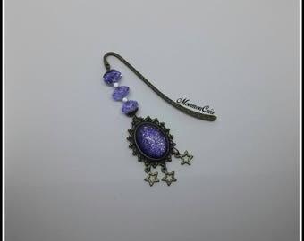 Bookmarks monk purple Nail Polish cabochon.