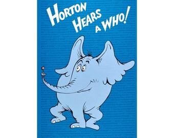 Horton Hears a Who !   Panel Dr. Seuss Cotton Fabric Robert Kaufman