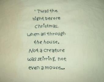 Primitive Stitchery~Twas The Night Before Christmas.......