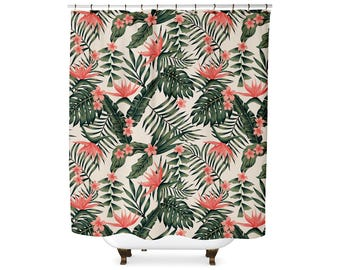 Tropical Floral shower curtain