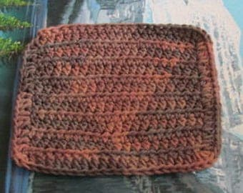 Hand crochet cotton dish cloth 6.5 by 6.5 cdc 101