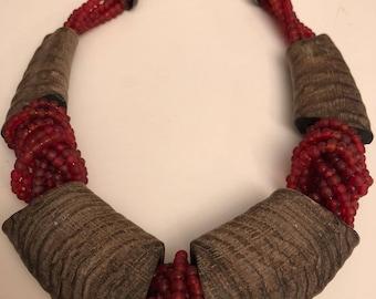 Caesarea Paris Horn and glass Caesarea ethnic necklace ethnic necklace