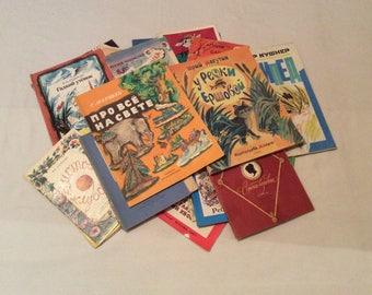 Vintage Russian Big set 27 childrens book paperback made in USSR + BONUS 2 book. Chukovskij Andersen Nekrasov. Fairy tales poems stories