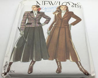 New Look Sewing Pattern 6155 Jacket Skirt Fitted Maxi Lenght Skirt Swing Flared  Equestrian Style Fashion Size 8 10 12 14 16 18