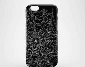 Spider Web iPhone 7 case / Halloween phone case / black and white iPhone 6 case / graphic iPhone 7 Plus case / Spooky iPhone 6 / iPhone SE
