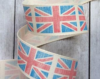 Vintage British Union Jack Flag Ribbon