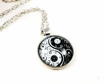 Silver Tao Yin Yang Necklace Locket Yin Yang