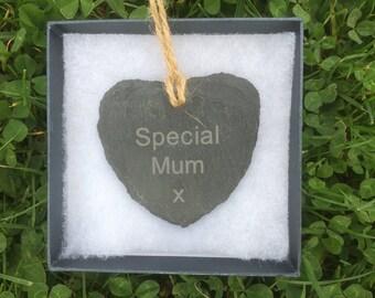 Special Mum, Special Grandma, Special Sister, Special Aunt 7 cm Slate Heart.