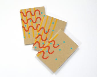 Screenprinted Notebook - Patterned