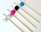Cat toy wand - felt wool and wood, blank stick, natural materials, resistant cat toy, cat gift, animalove