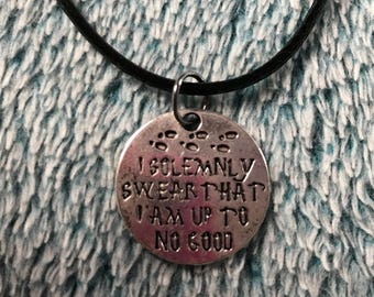 Harry Potter - I Solemnly Swear That I Am Up To No Good - Necklace