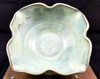 Light Turquoise Ceramic Bowl, Teal Pottery Bowl, Light Green Ceramic Dish, Pasta Dish, Pottery Dish, Fruit Bowl, Pottery Bowl