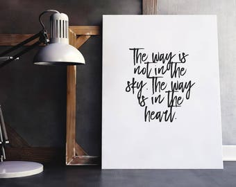 Heart Quote | The Way Quote, Love Calligraphy Art, Love Saying Art, Love Typography Wall, Love Typography Script, Heart Saying, Great Heart