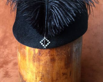 Magic French Hat with Mohawk Feather