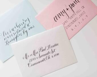 Calligraphy Wedding Envelope Addressing - Wedding Calligraphy - Envelope Calligraphy - Wedding Invitation Addressing - by Jen K Calligraphy