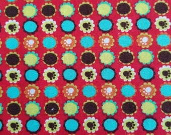 Red Paw Print Cotton Fabric, Sewing Fabric, Quilting Fabric, 3.875 yards-Ready to Ship