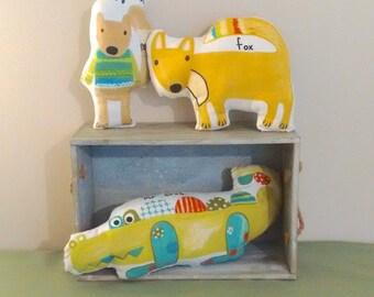 Woodland cushion toys