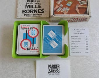 Vintage Mille Bornes Parker Brothers French version Card Game 1971 Complete