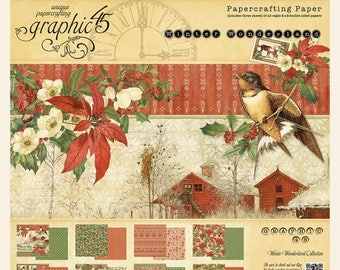 Graphic 45-Winter Wonderland 8x8 Paper Pad