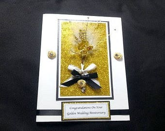 Handmade Golden Anniversary Card