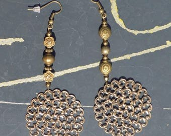 Bronze dangle earring