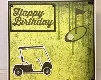 Handmade Golf birthday card
