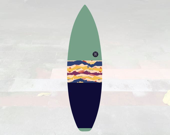 NEW IN   Volcan-Oh   Surfboard Sock   Horizon Pistachio
