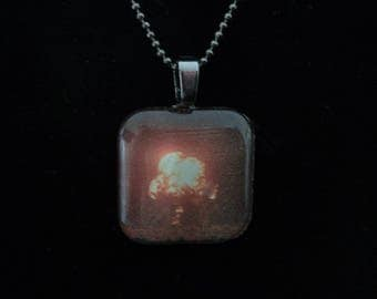 Nuclear Memento Mori: Teapot Apple Nevada Test Site March 29, 1955 Glass Pendant