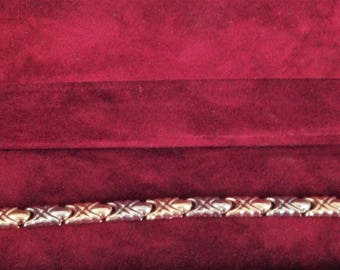 14 K magnifique Bracelet de fantaisie Or jaune 14 K & Or blanc 14 K, *** Livraison gratuit au Canada**Free shipping to Canada