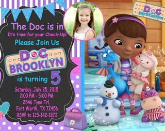 Doc McStuffins Invitation, Doc McStuffins Birthday, Doc McStuffins Party