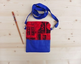 Shoulder bag with japanese print