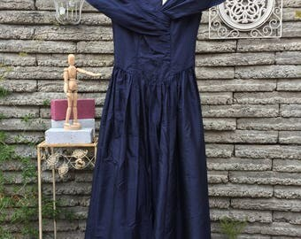 Vintage 1990's Midnight Navy Dress * Laura Ashley * XS  * New Old Stock