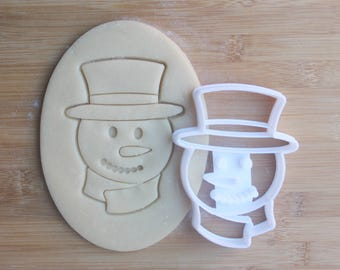 Snowman Cookie Cutter 3D Printed | Holiday Cookie Cutters / Christmas Cookie Cutter / Winter Cookie Cutters / Frosty the Snowman Cookies