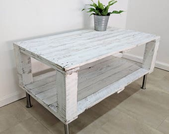 White Pallet Coffee Table lemmik large reclaimed wood pallet coffee table in farmhouse
