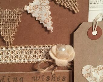Vintage Shabby Chic Wedding Card and Tag
