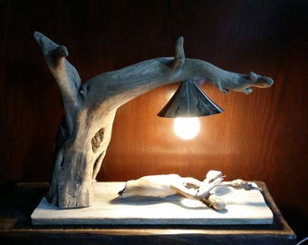 """design"", original Driftwood lamp"