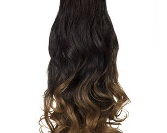 Hair extensions Curly Claw Clip Dip Dye Ponytail