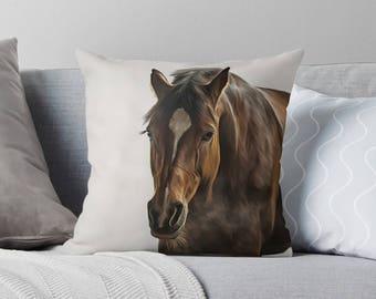 Horse Pillow | Horse Decor | Equestrian Decor | Equestrian Gifts | Equestrian Pillow | Horse Gifts for Girls | Horse Gifts