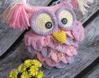 owl toy stuffed owl kids gift crochet bird plush baby gift owl baby shower gift soft toy woodland toy nursery decor owl gifts toys girl gift