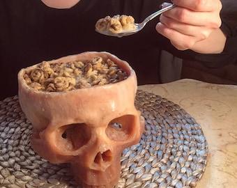 Human Skull Bowl (Food Safe)