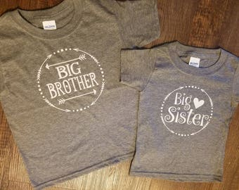 Sibling set | Big Brother and Big Sister Set | Big Sister Shirt | Big Brother Shirt | baby announcement shirt | newborn sibling set | kids
