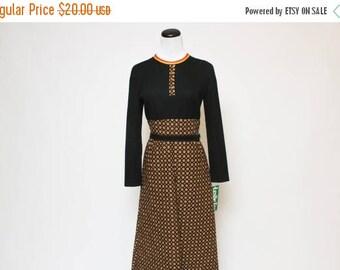 25% OFF Vtg 70s NWT Floral Hippie Boho Groovy Maxi Dress M