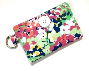Grab n Go Wallet - Business Card Holder - Small Wallet - Gift Card Wallet - women's Wallet - Key Chain Wallet - On The Go Wallet