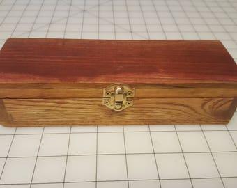 Hinged Wood Box w/ Latch 7