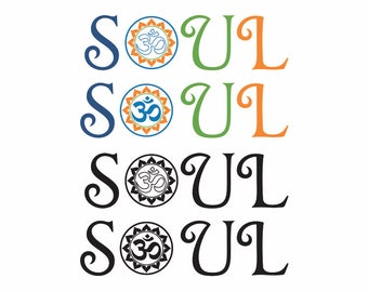 Soul with OM Clipart // Soul Vector // Laser Cutting and Engraving file // Soul clipart // Soul SVG file //Cricut Design Space file // Cameo