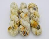 REDUCED! Frosty Drank Eggnog, 100g 212m DK hand-dyed yarn.