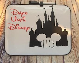 Disney countdown dry erase board