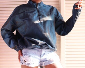 Cool Blue Iridescent Windbreaker