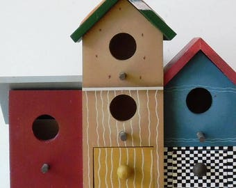Small Jewelry or Storage Birdhouse * For Indoors * Refurbished