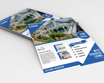 Photoshop Template | Real Estate Flyer Template | Instate Download